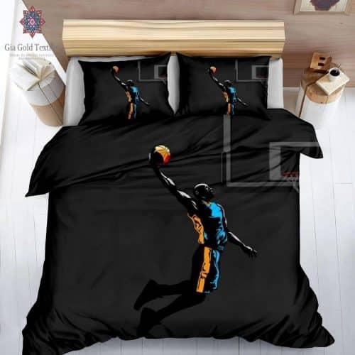 kosárlabda játékos fekete színben pamut ágynemű
