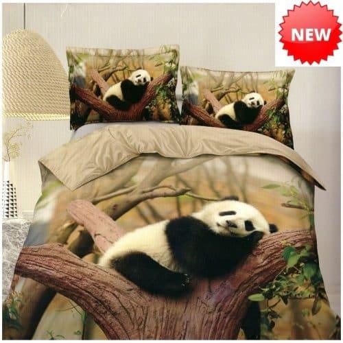 pamut ágynemű panda a természetben