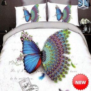 Ágynemű Fehér Színben Pillangó Páva