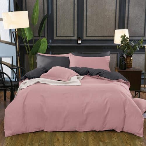 pamut ágynemű mályva és szürke