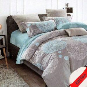 mandala mintás pamut ágynemű szürke