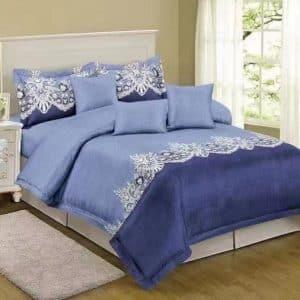 Kék árnyalatok klasszikus mintával ágyneműhuzat