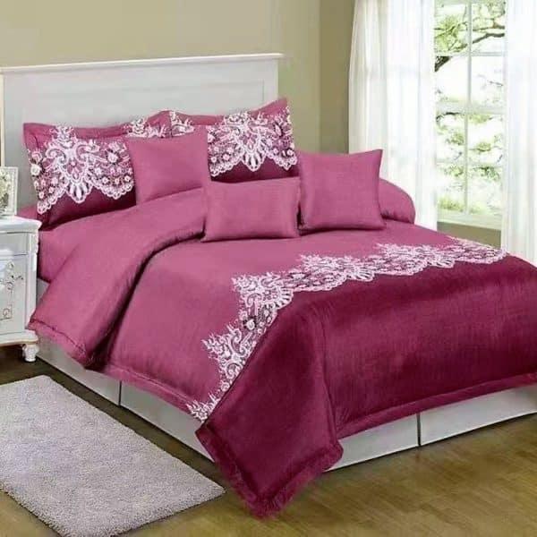 pamut ágynemű mályva bordó klasszikus mintával