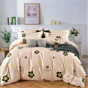 Pamut krém alapon apró virágokkal ágynemű