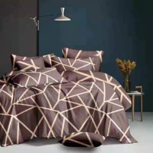 barna színben klasszikus világos csíkok ágynemű