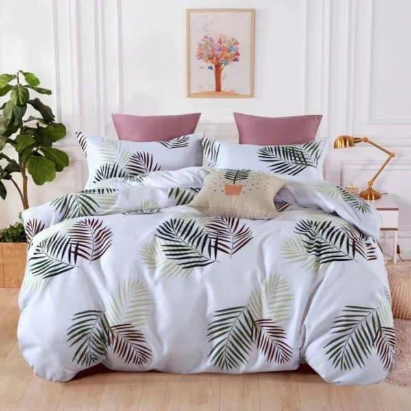 színes levelek világos alapon pamut ágynemű