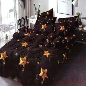 arany színű csillag mintával pamut ágynemű