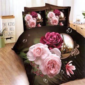 nagy rózsák mintával pamut ágyneműhuzat