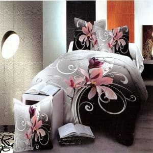 nagy virág mintás pamut ágyneműhuzat