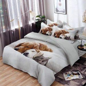 Ágynemű Kutyus és Cica Minta