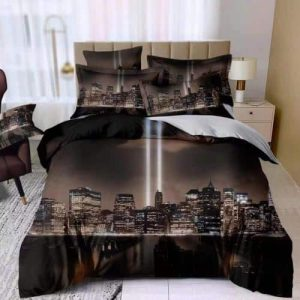 pamut ágynemű new york mintával