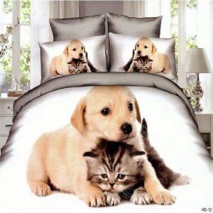 Ágyneműhuzat Kutyus És Cicás