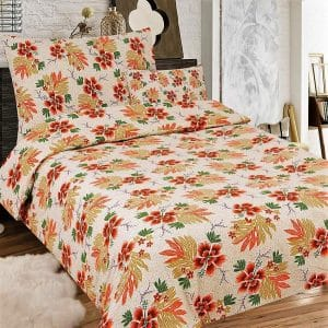 flanel ágynemű krém virágokkal