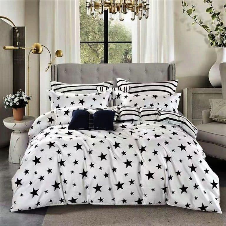 Ágynemű Fekete Csillagokkal