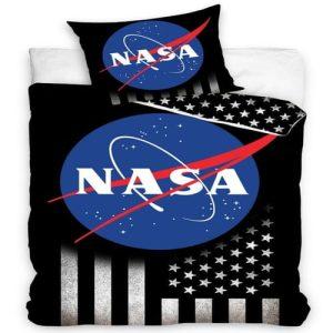 Ágynemű Fekete Alap NASA
