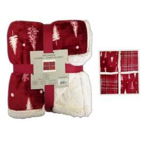 Takaró Karácsonyi Piros Fehér