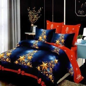 Ágynemű Kék Piros Karácsony