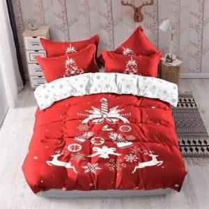 Ágynemű Piros Nagy Karácsonyfával